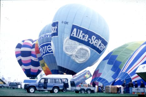 Companies often use special shaped hot air balloons as an outdoor advertising medium.