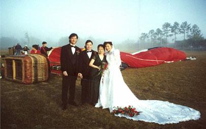 A Hot Air Balloon Wedding